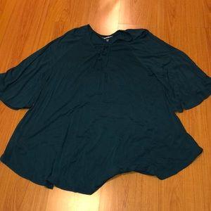 Green tunic; size 22/24